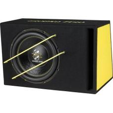 Komplektas automobiliui žemų dažnių garsiakalbis dėžėje GZIB 3000 SPL 30 cm ir garso stiprintuvas Ground Zero GZTA 1.800DX 2000W
