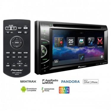 "Auto magnetola Pioneer AVH-X1600DVD CD/DVD grotuvas su 6.1"" ekranu 200W USB su Mixtrax iPod iPhone Android"