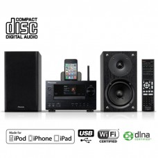 Pioneer XC-HM71-K tinklinis bevielis stereo stiprintuvas resyveris su kolonėlėm 100W USB AirPlay Iphone Ipod Ipad Android
