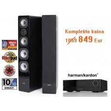 Harman Kardon HK 3770 stereo stiprintuvas 2.1 resyveris tinklinis grotuvas 2x180W ir kolonėlės (2 vnt.) Dynavoice Challenger M-65