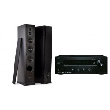 Ypatingai  gero garso stereo komplektas stiprintuvas ONKYO TX-8150   2x190W su kolėlėm Dynavoice DF-6