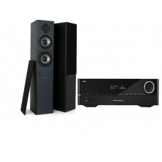 Stereo komplektas stiprintuvas Harman Kardon HK3700 ir kolonėlės  Proson Event 6